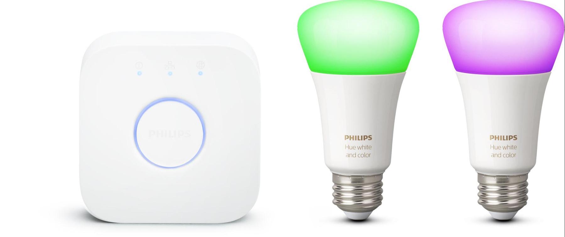 Chytré žárovky Philips Hue je možné ovládat prostřednictvím mobilního zařízení a nastavovat na něm například barevné tóny.