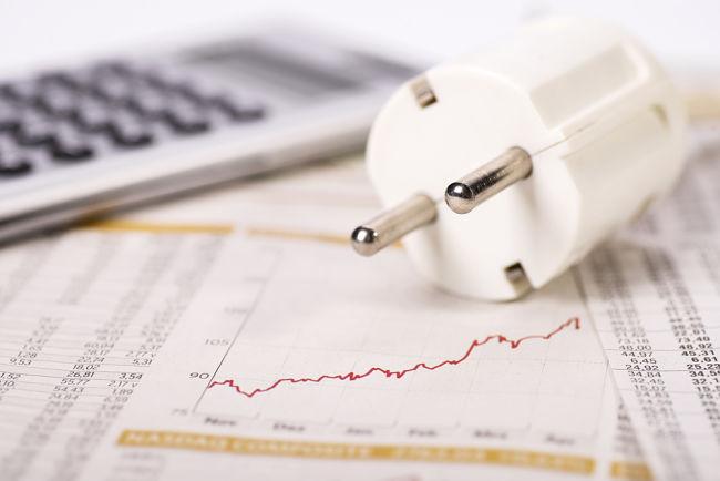 Cena elektrické energie se vypočítává z distribuční sazby a tarifu.