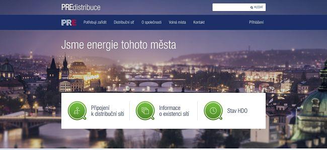 Společnost PREdistribuce je odpovědná za distribuční síť v Praze a ve městě Roztoky.