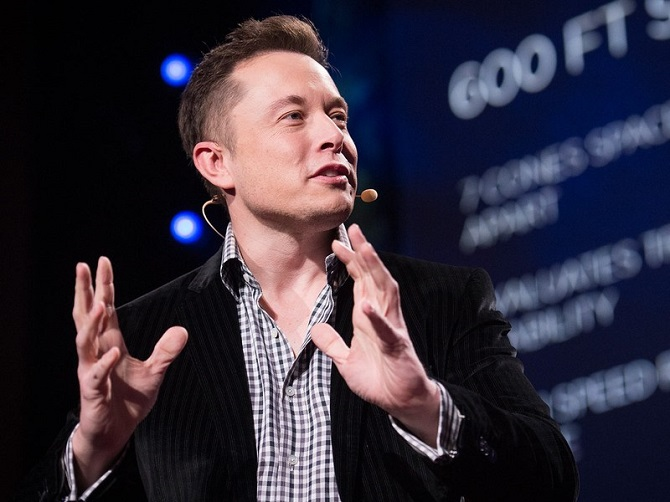 Elon Musk, šéf Tesla Motors.