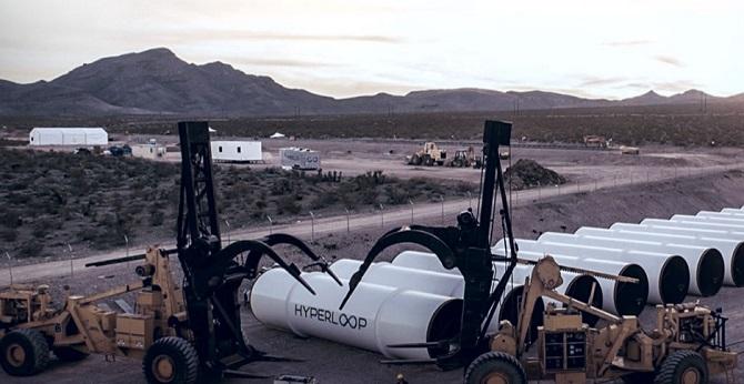 Testu dráhy Hyperloop předcházely mohutné přípravy.