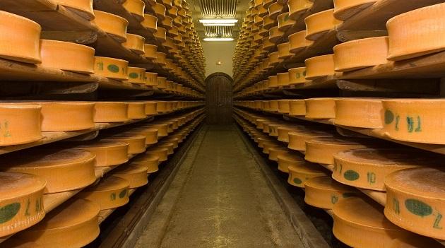 Sýrárna ve francouzských alpách.